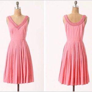 Moulinete Souers Pink Polka Dot 'Melon Ball' Dress